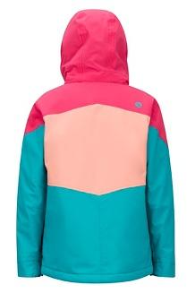 Girls' Elise Jacket, Blue Tile/Disco Pink, medium