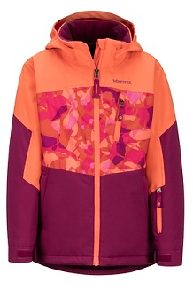 Girls' Elise Jacket, Purple Berry/Nasturtium, medium