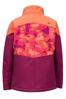 Girls' Elise Jacket, Purple Berry/Nasturtium, medium