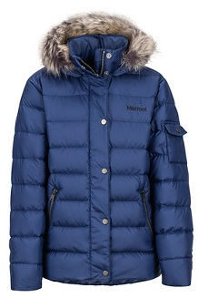 Girls' Hailey Jacket, Arctic Navy, medium