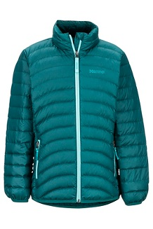Girls' Highlander Down Jacket, Deep Teal, medium