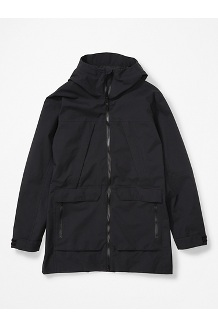 Men's Commuter Parka, Black, medium