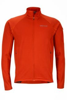 Stretch Fleece Jacket, Dark Rust, medium