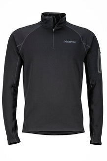 Men's Stretch Fleece 1/2-Zip, Black, medium