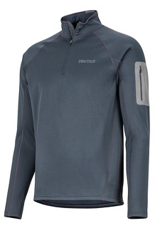 Men's Stretch Fleece 1/2-Zip, Dark Steel, medium