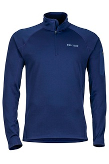 Men's Stretch Fleece 1/2-Zip, Arctic Navy, medium
