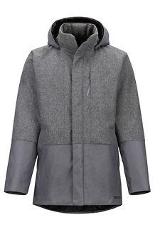 Men's Giorgio Coat, Grey Heather/Steel Onyx, medium