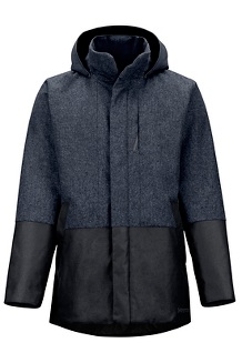 Men's Giorgio Coat, Black Heather/Black, medium