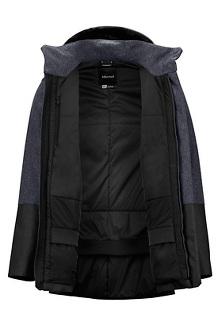 Men's Giorgio Coat, Black Heather/Black, medium