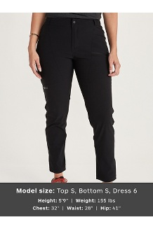 Women's Portal Pants, Black, medium
