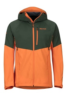 Men's ROM Jacket, Crocodile/Mandarin Orange, medium