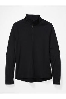 Men's Baselayer ½-Zip Jacket, Black, medium