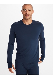 Men's Polartec Baselayer Long-Sleeve Crew, Dark Indigo, medium