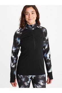 Women's Baselayer ½-Zip Jacket, Black/Solstice, medium