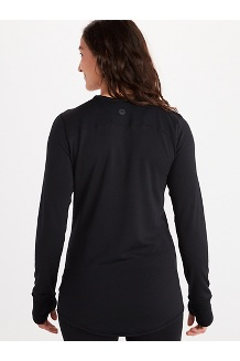 Women's Polartec Baselayer Long-Sleeve Crew, Black, medium