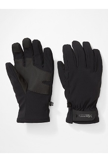 Men's Slydda Softshell Gloves, Black, medium