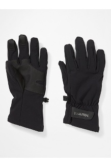 Women's Slydda Softshell Gloves, Black, medium