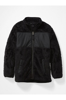 Kids' Roland Fleece Jacket, Black, medium