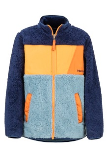 Boys' Roland Fleece Jacket, Blue Granite/Arctic Navy, medium