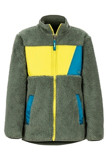 Boys' Roland Fleece Jacket, Crocodile/Citronelle, medium