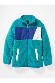 Kids' Roland Fleece Jacket, Enamel Blue/Royal Night, medium
