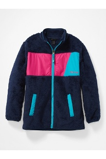 Kids' Roland Fleece Jacket, Arctic Navy/Very Berry, medium