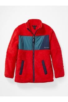 Kids' Roland Fleece Jacket, Victory Red/Stargazer, medium