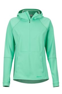 Women's Zenyatta 1/2 Zip Hoody, Double Mint, medium