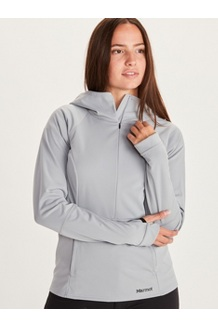 Women's Zenyatta 1/2 Zip Hoody, Sleet, medium