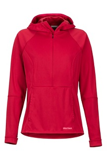 Women's Zenyatta 1/2 Zip Hoody, Sienna Red, medium