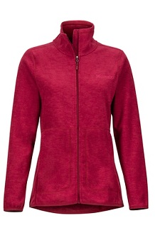 Women's Pisgah Fleece Jacket, Claret, medium