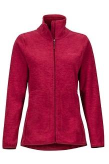 Women's Pisgah Fleece Jacket, Claret, medium