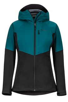 Women's ROM Jacket, Black/Deep Teal, medium