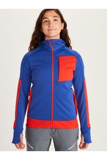 Women's Dawn Hoody, Royal Night/Victory Red, medium