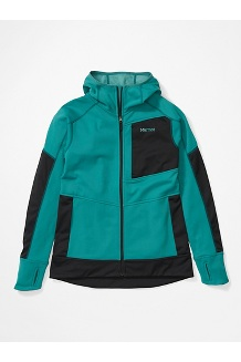 Women's Dawn Hoody, Deep Jungle/Black, medium