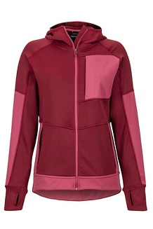 Women's Dawn Hoody, Claret/Dry Rose, medium