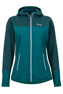 Women's Sirona Fleece Hoody, Deep Teal/Lavender Aura, medium