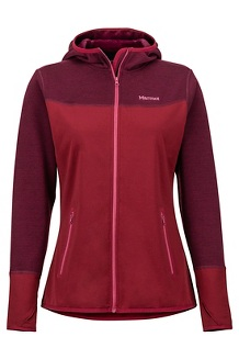 Women's Sirona Fleece Hoody, Claret/Dry Rose, medium