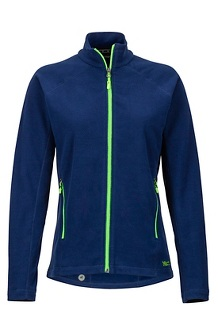Women's Rocklin Full-Zip Jacket, Arctic Navy/Vibrant Green, medium