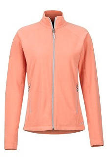 Women's Rocklin Full Zip Jacket, Coral Pink, medium