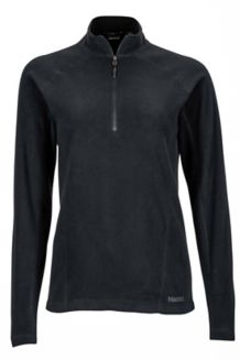 Wm's Rocklin 1/2 Zip, Black, medium