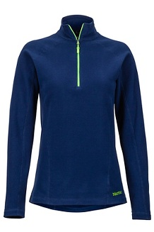 Women's Rocklin 1/2-Zip, Arctic Navy/Vibrant Green, medium