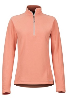 Women's Rocklin 1/2-Zip, Coral Pink, medium