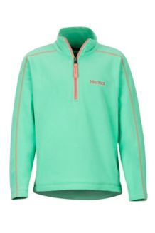 Girls' Rocklin 1/2 Zip, Double Mint, medium