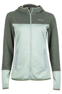 Wm's Sirona Hoody, Sea Fog/Beetle Green, medium