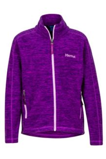 Girl's Lassen Fleece, Grape, medium