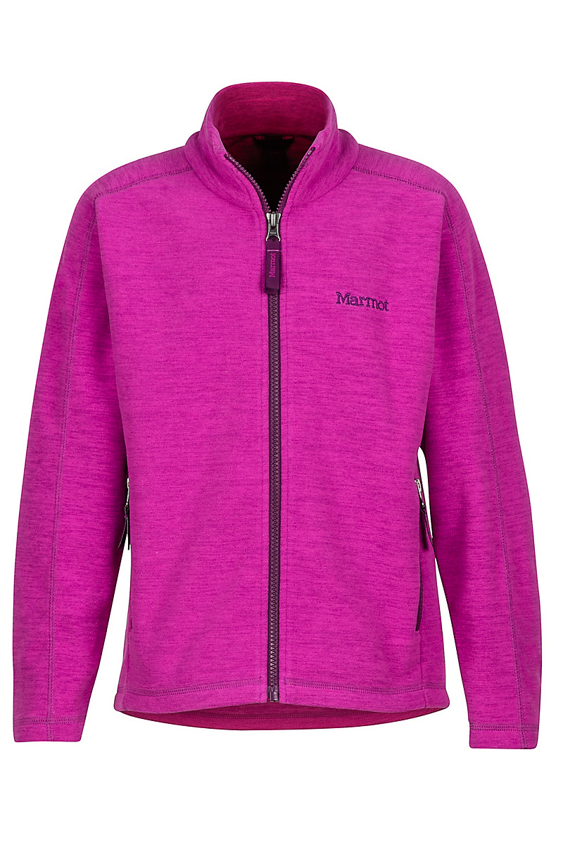 Girl's Lassen Fleece, Purple Orchid, large