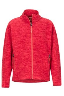 Girl's Lassen Fleece, Living Coral, medium