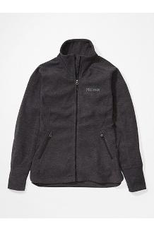 Women's Pisgah Fleece Jacket, Black, medium