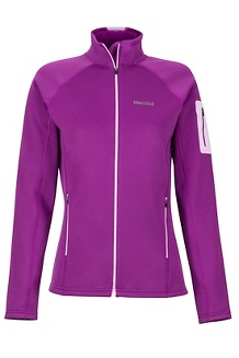 Wm's Stretch Fleece Jacket, Grape/Teaberry, medium